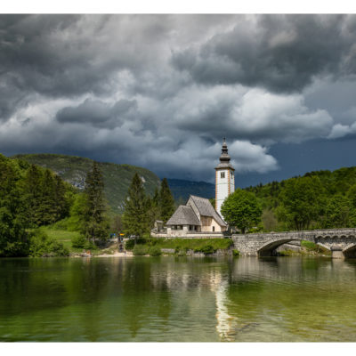 A stormy day at Lake Bohinj,